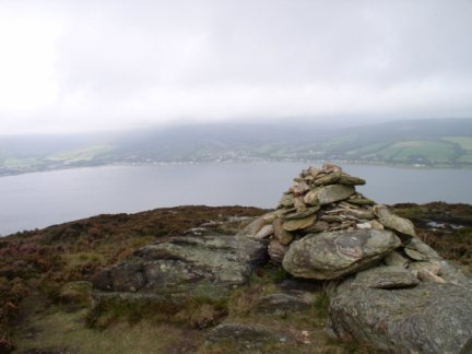 The top of Mullach Beag looking to Lamlash