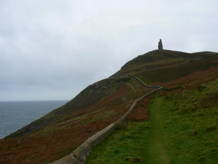 Approaching Bradda Head and the Milner Tower