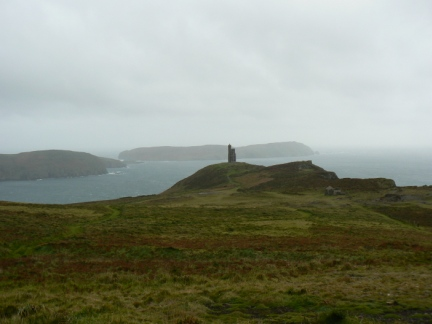 Looking back towards Bradda Head with Calf of Man in the distance