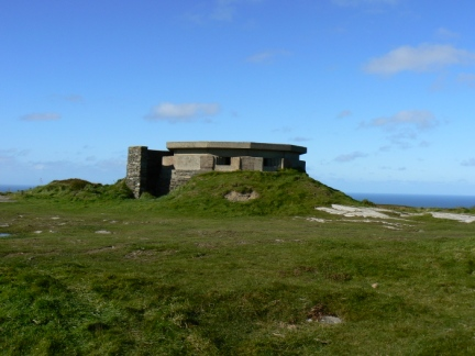 The remains of the WWII radar station on Mull Hill