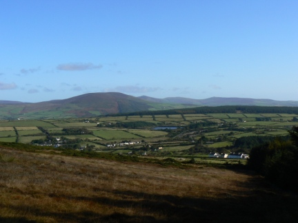 The view north west across Foxdale