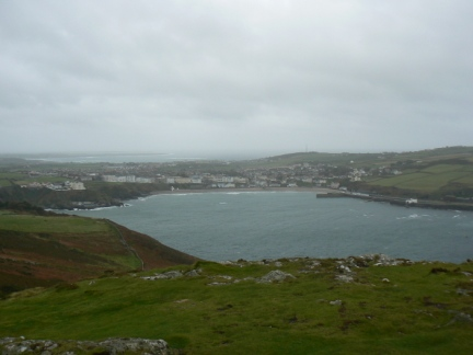 Looking back down at Port Erin