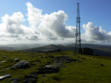 The mast on the summit of Snaefell