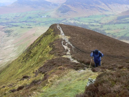 David above Aikin Knott