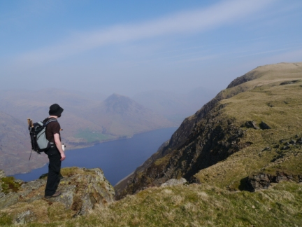 Above Wastwater looking towards Illgill Head