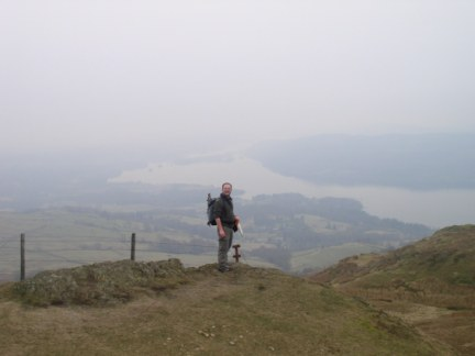 On Wansfell Pike with Windermere below