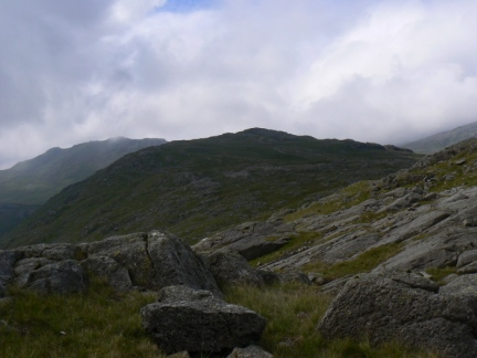Looking back at Allen Crags
