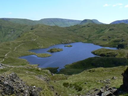 Looking back down to Angle Tarn