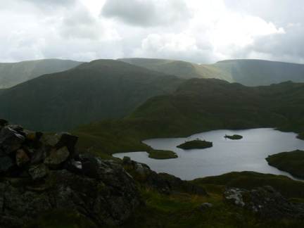 Looking down to Angle Tarn
