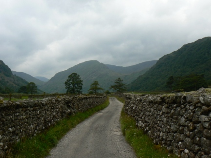 Base Brown from the road to Thorneythwaite Farm