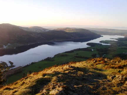 Bassenthwaite Lake from the top of Dodd