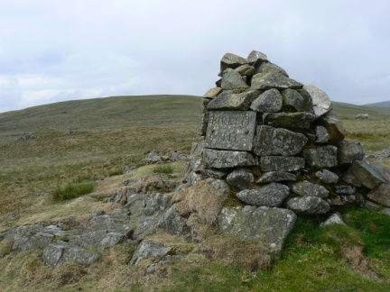 The cairn on Birkett Fell