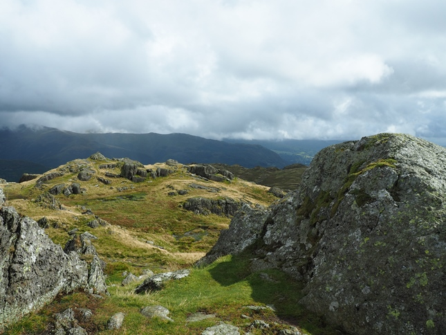 The top of Blea Rigg looking towards Wainwright's cairned summit