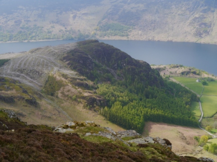 Looking down at Bowness Knott