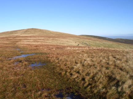 The easy grassy path on to Bowscale Fell