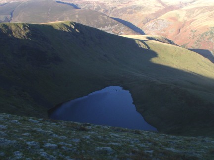 Looking down Tarn Crags to Bowscale Tarn