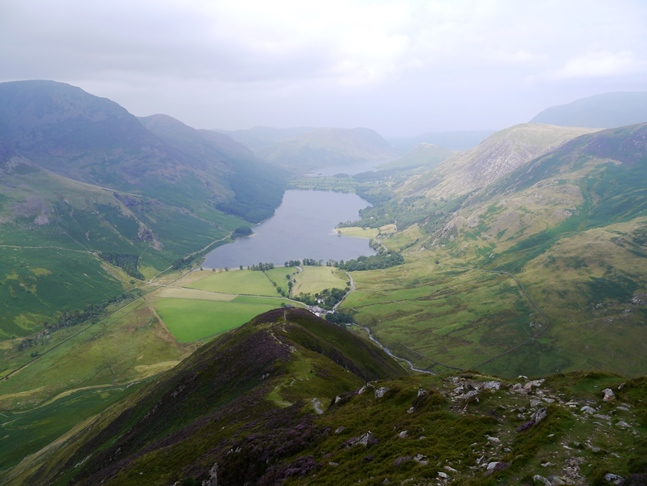 The Buttermere valley from Fleetwith Edge