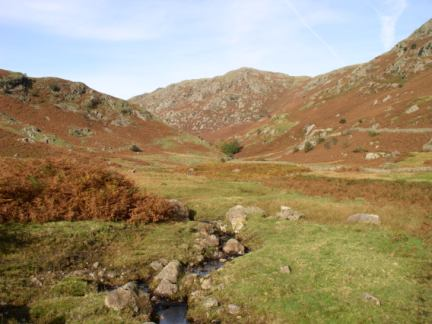 Looking up Far Easedale to Calf Crag