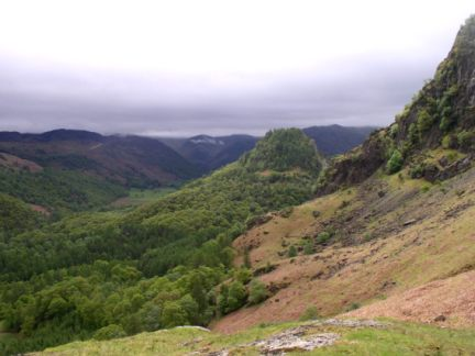 Looking south towards Castle Crag and Borrowdale