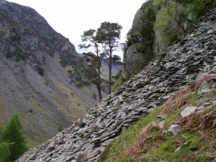 The steep slopes of Castle Crag
