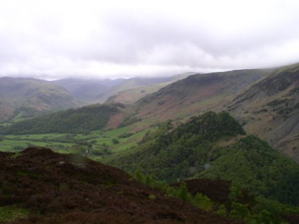 Looking down to Castle Crag