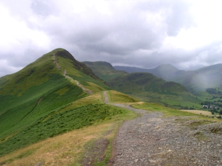 Looking back at Cat Bells from Skelgill Bank