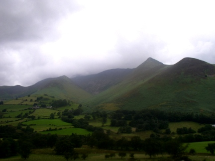 Looking across the Newlands Valley to Causey Pike