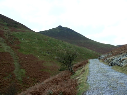 Causey Pike from the path above Stoneycroft Gill