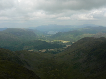 Combe Gill and Borrowdale from Combe Head