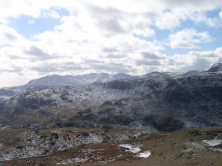 Looking south to the Coniston Fells