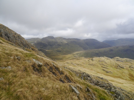 Crinkle Crags from the descent of Slight Side