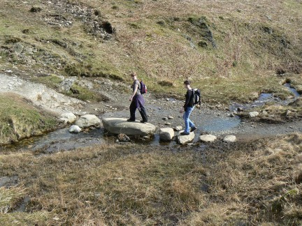 Lisa and Claire crossing Troughton Gill