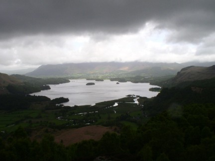 Derwent Water from below King's How