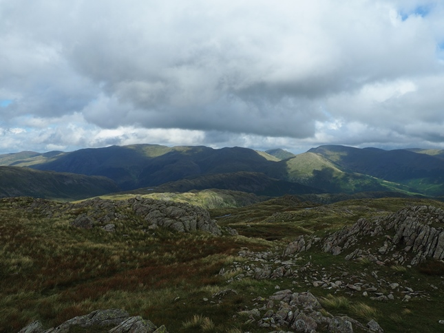 The wonderful view of the Eastern Fells from the top of Codale Head