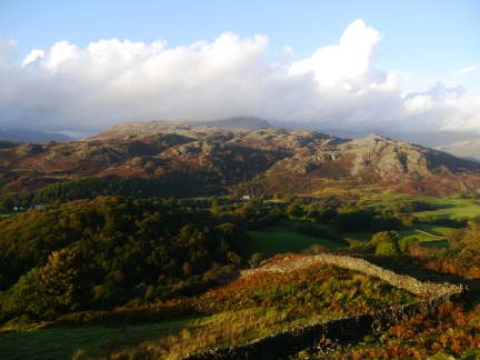 Looking across Eskdale to the Eskdale Youth Hostel