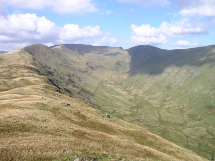 High Rigg, Fairfield and Hart Crag from Heron Pike