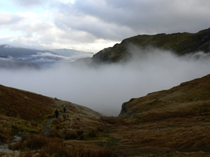 Mist at the head of Far Easedale