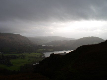 A glimpse of Grasmere and Rydal Water