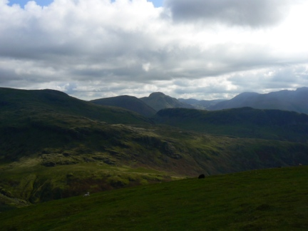 The view towards Great Gable from Seatallan