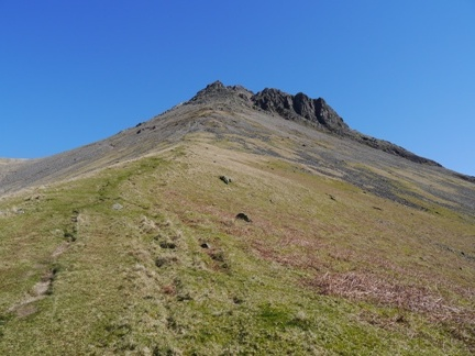 Looking back up to Great Gable from Gavel Neese