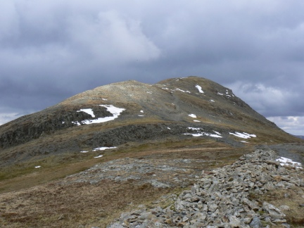 Looking back at Grisedale Pike