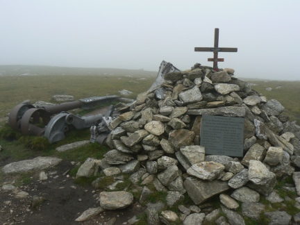 The Halifax Bomber Memorial on Great Carrs