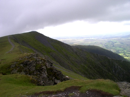 Hall's Fell and the summit of Blencathra from Gategill Fell
