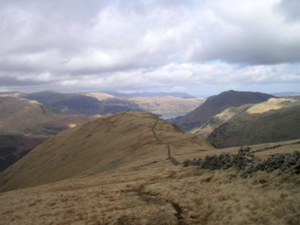 Looking back at Hartsop Dodd from Caudale Moor