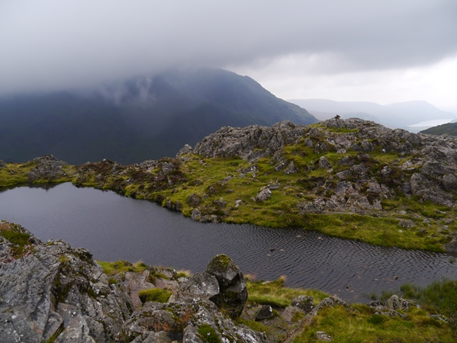 The small tarn below the summit of Haystacks