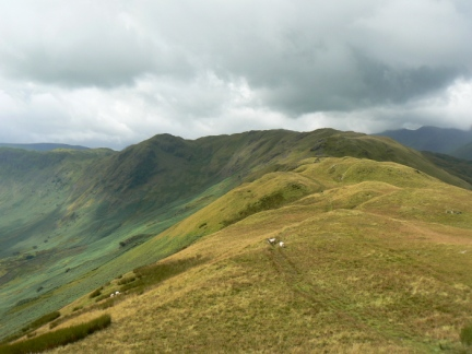 Looking along the ridge towards Heck Crag and Angletarn Pikes