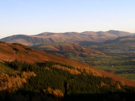 The distant Helvellyn range