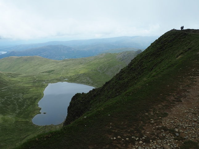 As we approached the summit of Helvellyn the cloud cleared