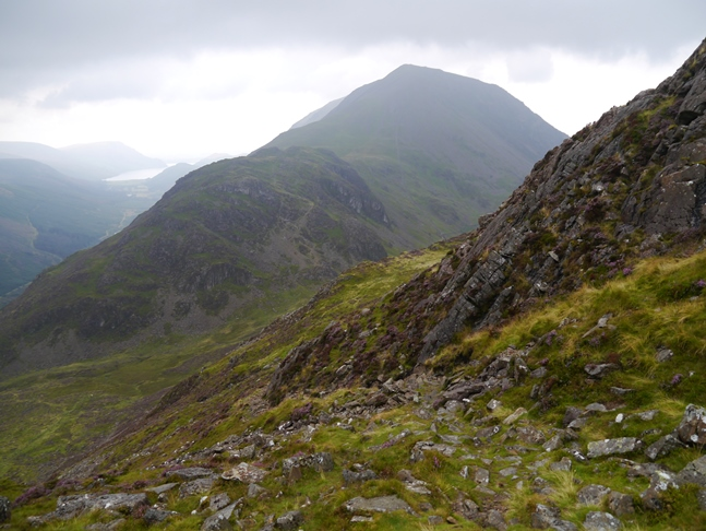 The view towards Seat and High Crag on the descent from Haystacks