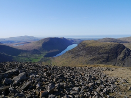 Wastwater from just below the summit of Kirk Fell
